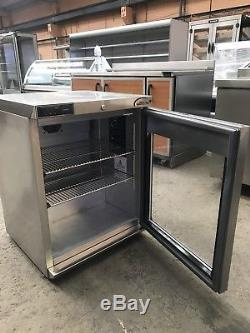 Foster Stainless Steel Under Counter Fridge Height 82cm Hr150a + 2 Shelf