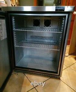 Foster Under Counter Fridge Stainless Steel fridge. Commercial Catering