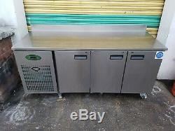 Foster under counter 3 door fridge stainless steal work top prep fridge 1880mm