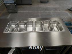 Foster under counter 3 door prep fridge work top Saladette (+1°/+4°C) pizza prep