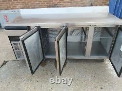 Foster under counter 3 door prep fridge work top stainless steal bench fridge