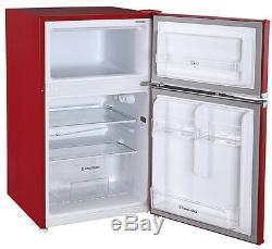 Grade A+ Russell Hobbs RHUCFF50R 50cm Wide Red Under Counter Fridge Freezer