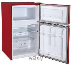 Grade A Russell Hobbs RHUCFF50R 50cm Wide Red Under Counter Fridge Freezer