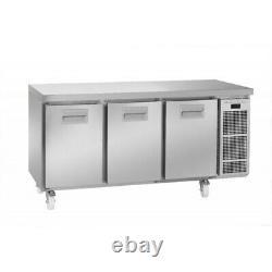 Gram Snowflake Stainless Steel 3 Door Undercounter Bench Food Preparation Fridge