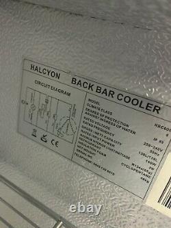 Halycon Bar Back Fridge, Wine, Beer, Drinks Fridge Storage. Under Counter