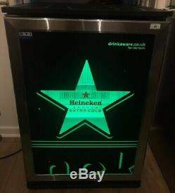 Heineken Beer Bar Froster Single Door AHT 150 SS LED Under Counter Display Drink