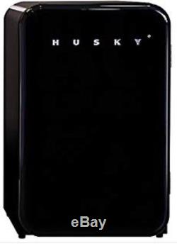 Hfb535 Husky Retro Undercounter Black Mini Fridge