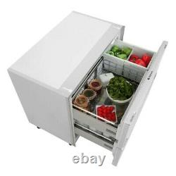 Hotpoint NCD191I 150 Litre Integrated Under Counter Fridge Drawers 90cm(W) White