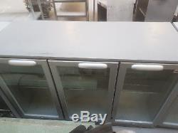 Husky Three Door Under Counter Drinks Display Fridge