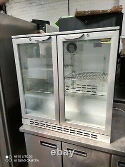 Husky under counter commercial double sliding door glass fridge bottle cooler
