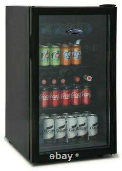 ICEKING BF150K Under-Counter Drinks Fridge Black 115L 4 Shelves/Light A+