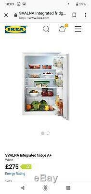 IKEA SVALNA Integrated refrigerator fridge larder undercounter A+ NEVER USED