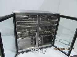 IMC Under Counter Double Glass Door Drinks Display Bak Bar Bottle Fridge Chiller