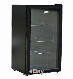 Icepoint Undercounter Cooler Fridge Chiller Beer Wine Cans Bottles Drinks 90 Ltr