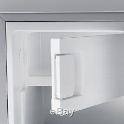 Inventor A++ 98L Under Counter Small Fridge 4Freezer Silver