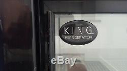 King Cooler KG250SL Double Glass Door Undercounter Fridge Bottle Cooler