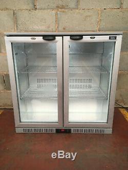 LEC 2 Door Drinks Display / Under Counter Bar Chiller