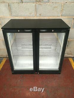 LEC 2 Door Under Counter Drinks Display / Bar Chiller/ Cooler/ Fridge