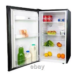 LFUCBL 48cm Freestanding Under Counter Larder Fridge In Black A+ Energy Rating