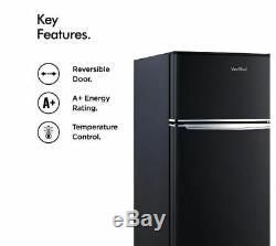 Large Fridge Freezer Under Counter Drinks Cooler Free Standing Black Portable A+
