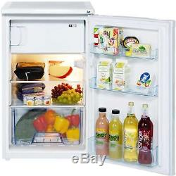 Lec R5010W 50cm A+ 100 Litres Under Counter Fridge with Freezer Box in White New