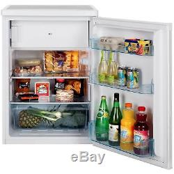 Lec R6014W 60cm Under Counter Fridge with Ice Box in White 2 Shelves