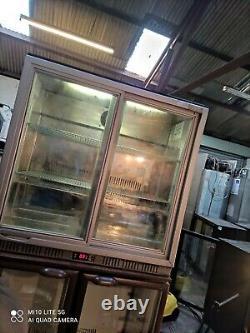 Lec pepsi Under counter commercial double sliding door glassfridge bottle cooler