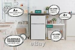 Lowry LUCFF50W 50cm Wide White Under Counter Fridge Freezer Grade A+