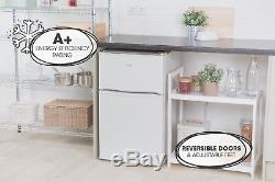 Lowry LUCFF50W Freestanding 50cm Wide White Under Counter Fridge Freezer