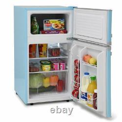 MAB2035PB 88litre Mini RETRO Fridge Freezer Class F Pastel Blue