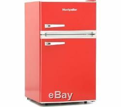 MONTPELLIER Retro MAB2031R Undercounter Fridge Freezer Red Currys