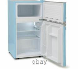 MONTPELLIER Retro MAB2035PB Undercounter Fridge Freezer Pastel Blue Currys