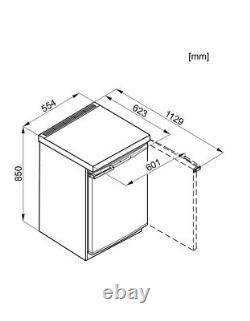 Miele K12012S-2 55cm Freestanding Undercounter Fridge With Ice Box WHITE