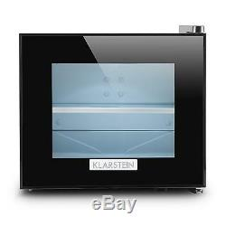Mini Fridge Bar Refrigerator Drinks Home Hotel Office LED Light Glass Door 10L