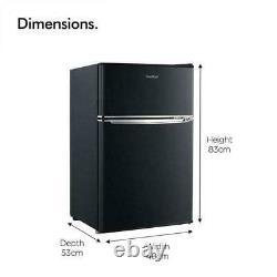 Mini Fridge Freezer Black Refrigerator Cooler Compact Small Office Table Top