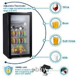 Mini Fridge Ice Box Small Refrigerator Under Counter Table Top Drinks Bar Fridge