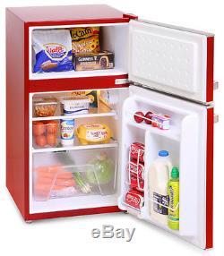 Montpellier MAB2030R Under Counter Retro Style Fridge Freezer Red 2 Year War