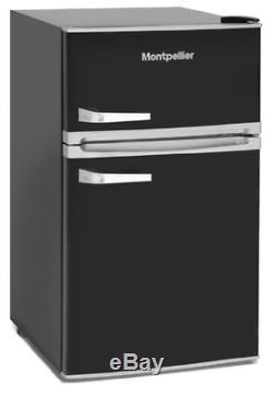 Montpellier MAB2031K Under Counter Black Retro Fridge Freezer + 2 Year Warranty
