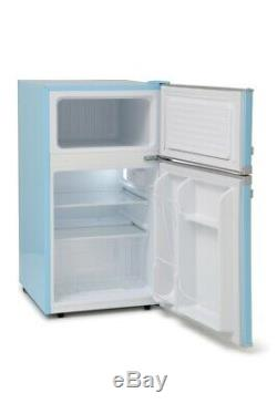 Montpellier MAB2031PB Pure Blue Under Counter Retro Fridge Freezer