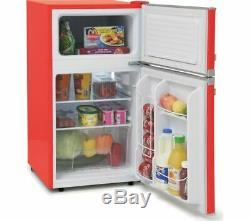 Montpellier MAB2031R Under Counter Red Retro Fridge Freezer + 2 Year Warranty