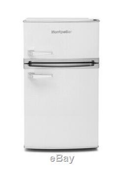 Montpellier MAB2031W Freestanding Under Counter Retro Fridge Freezer White