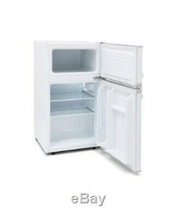 Montpellier MAB2031W Under Counter Retro Style Fridge Freezer in White