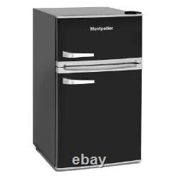 Montpellier MAB2035K Under counter Retro Fridge Freezer in Black