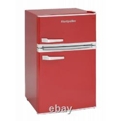 Montpellier MAB2035R Under Counter Red Mini Retro Fridge Freezer with A Energy