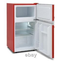 Montpellier MAB2035R Undercounter Retro Fridge Freezer Red