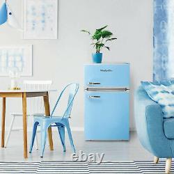 Montpellier Under Counter Mini Retro Fridge Freezer, Pastel Blue MAB2035PB