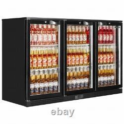 NEW 3 DOOR 870mm HIGH UNDERCOUNTER HINGED DOOR DRINK BOTTLE BAR COOLER
