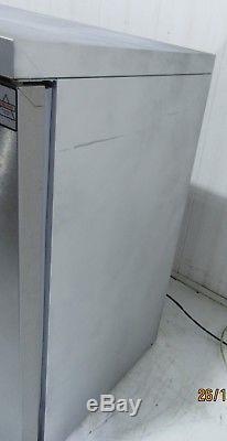 OSBORNE Under Counter DOUBLE SOLID DOOR BOTTLE DRINKS DISPLAY FRIDGE 250E LED