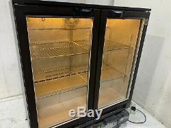 Osborne Double Glass Door Drinks Bottle Display Fridge Chiller Under Counter