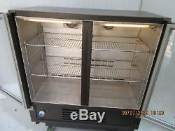 Osborne Double Glass Door Under Counter Drinks Display Fridge Chiller With Light